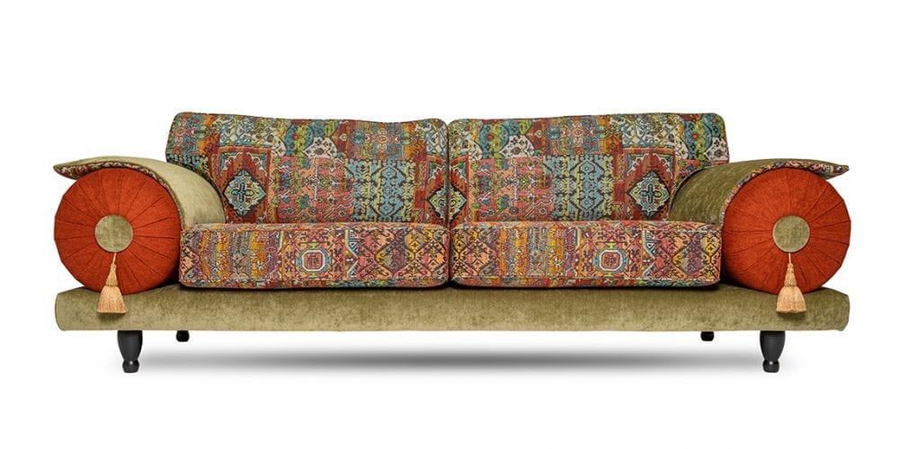 de oosterse casablanca in een multicolor stof