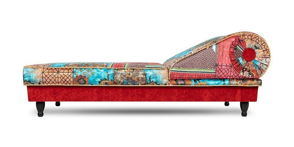 kleurrijke en oosterse chaise longue
