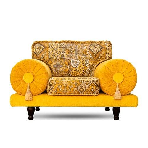 een gele oosterse stoel Casablanca