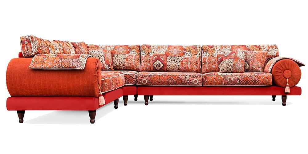 rode oosterse kleurrijke casablanca bank