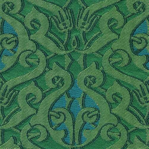 de blauw groene stof dulce van backhausen