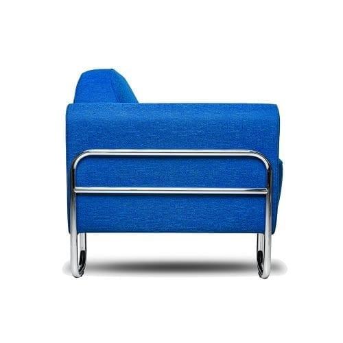 de blauwe buisframe bank dyker van dutch seating company