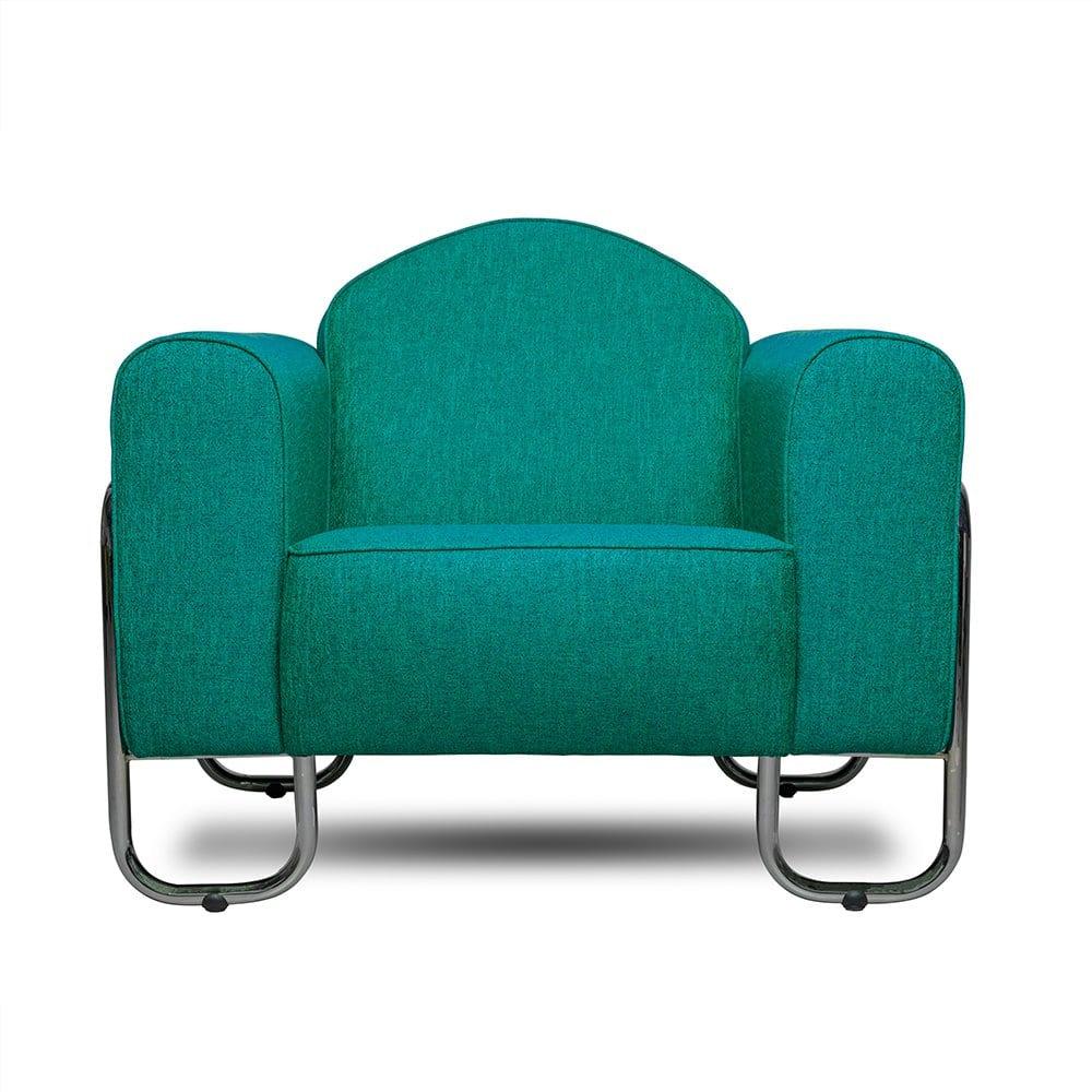 Buisframe fauteuil Dyker 30 in de blauwe kleur Eriska eau de nil