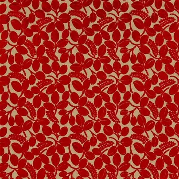 een rode bloem stof van designers guild
