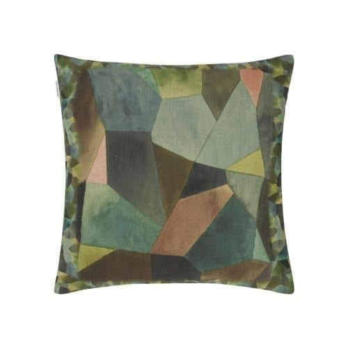 Geometrisch kussen op een gekleurde achtergrond, Geo Moderne bronze