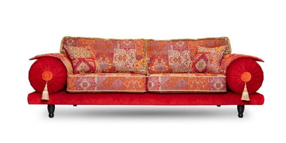 de oosterse casablanca met een rode velvet velours