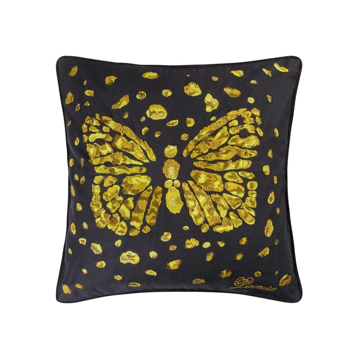 Glamoureus kussen met vlinder opdruk, van Christian Lacroix