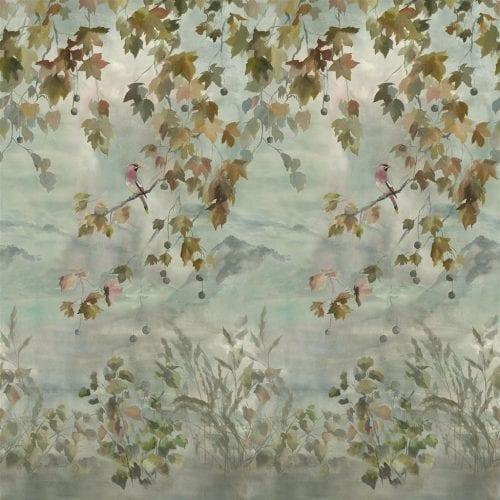 Het prachtige, herfstachtige behang Miyako scene van Designers Guild