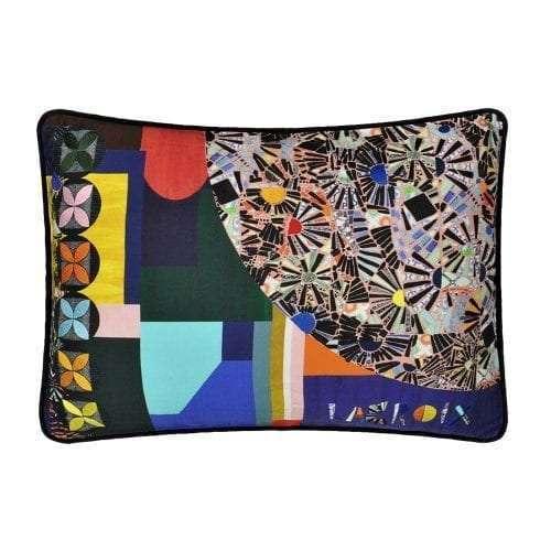 Mosaic Freak - Multicolore een prachtig kleurrijk kussen van Christian Lacroix