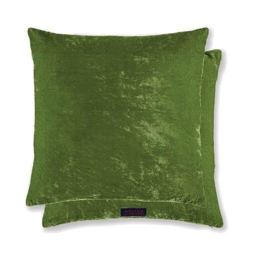 een groen velvet kussen van william yeoward
