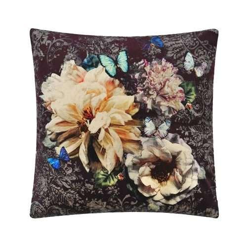 Pahari Rosewood opvallend bloemenkussen van Designers Guild