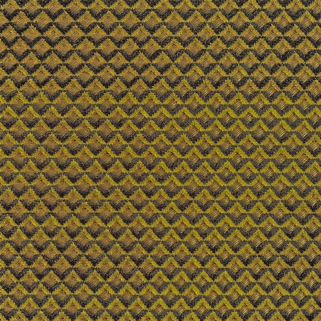 Portland ochre is een ruitjesstof die erg slijtvast is van Designers Guild