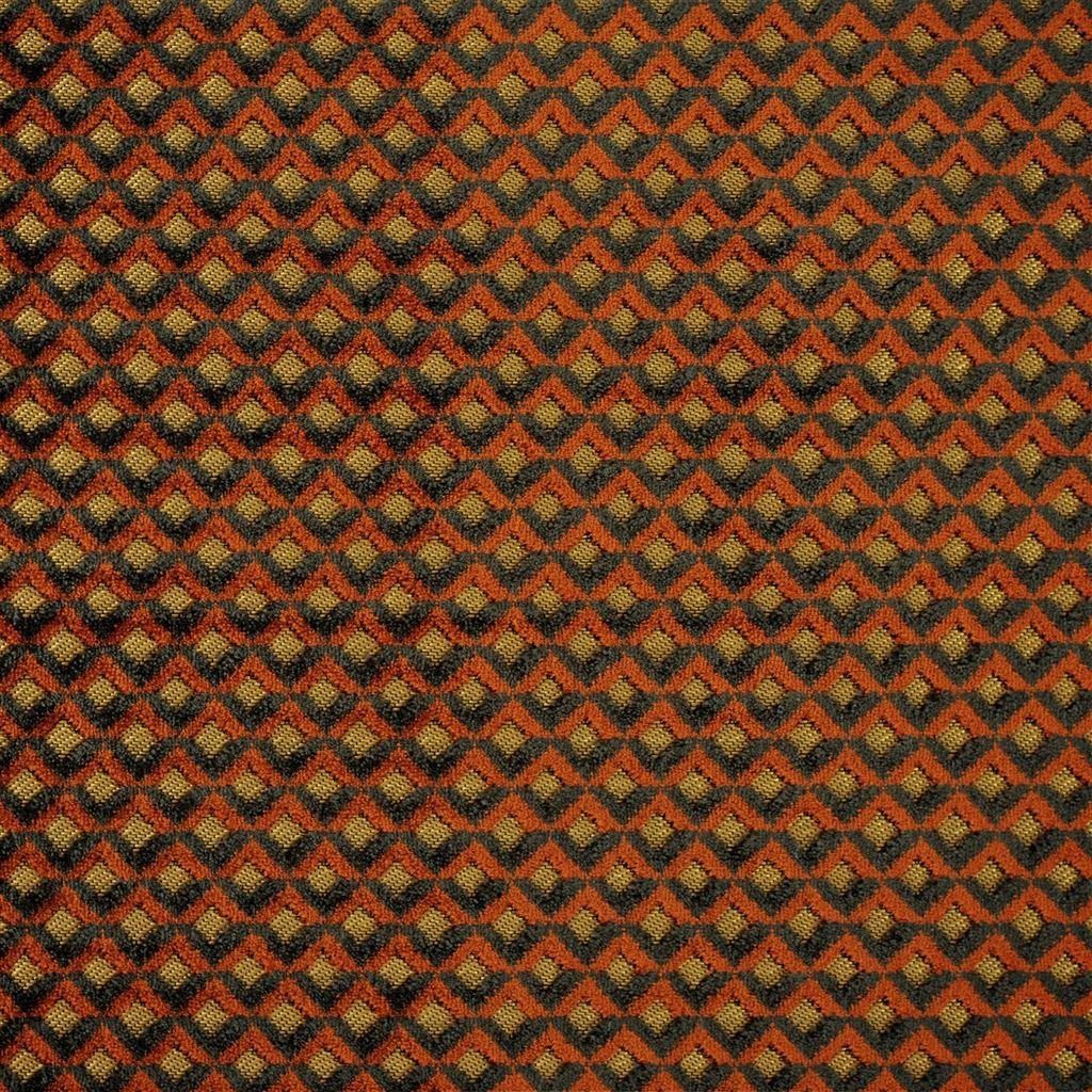 Portland terracotta is een ruitjesstof die erg slijtvast is van Designers Guild