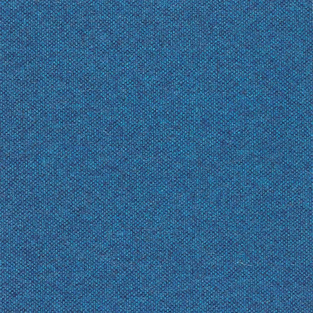 een blauwe wollen stof van keymer