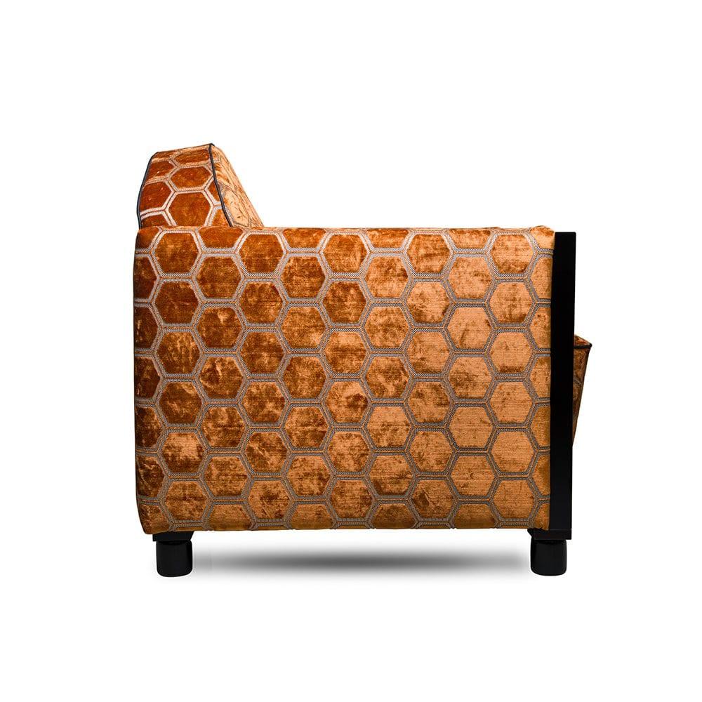 de rooker art deco fauteuil in de manipur stof van designers guild