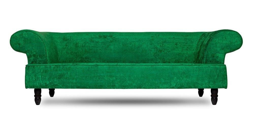 klassieke bank met groene stof