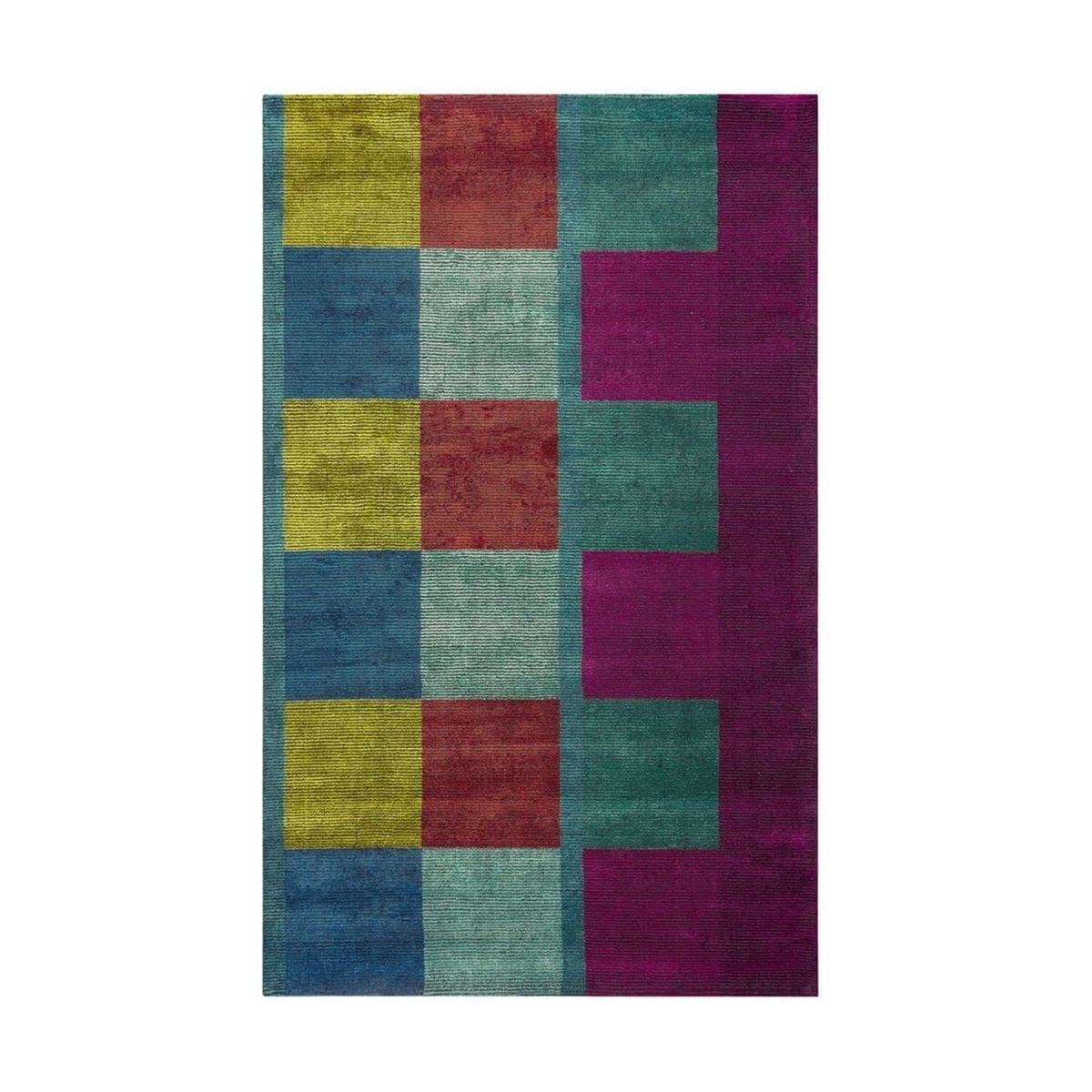 Het kleurrijke vloerkleed Sarang Fuchsia van Designers Guild