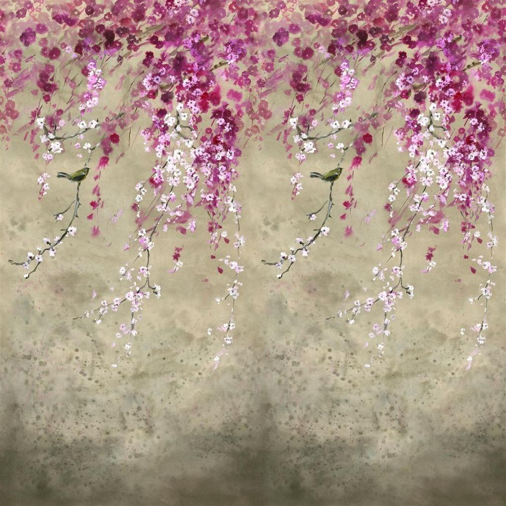 Dessin van kersenbloesem, Shinsha van Designers Guild