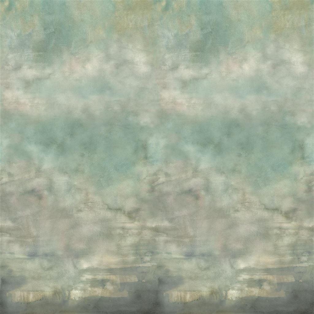 Het indrukwekkende groenige behang Suisai celadon van Designers Guild