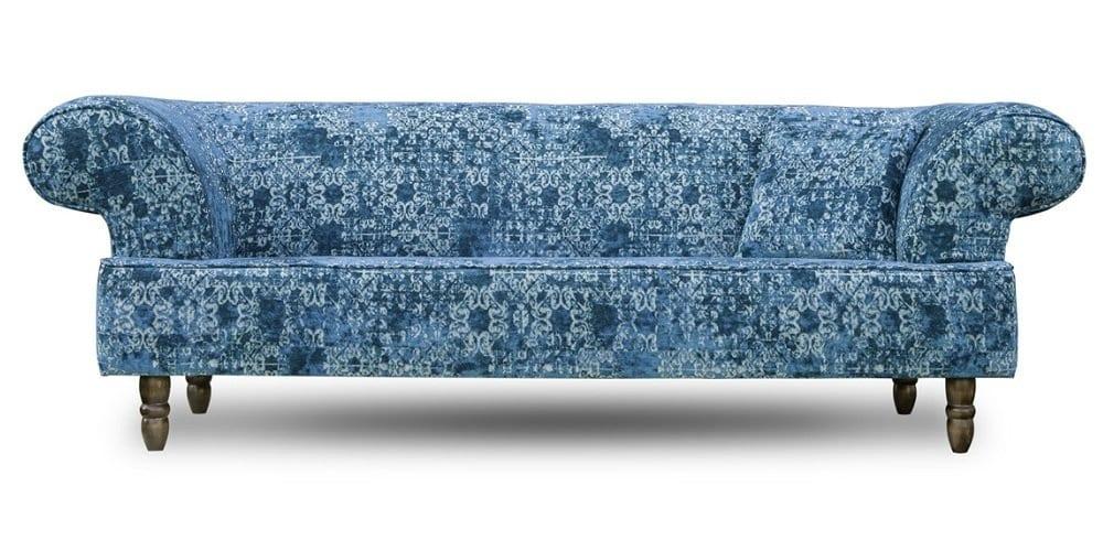 blauwe art deco bankstel