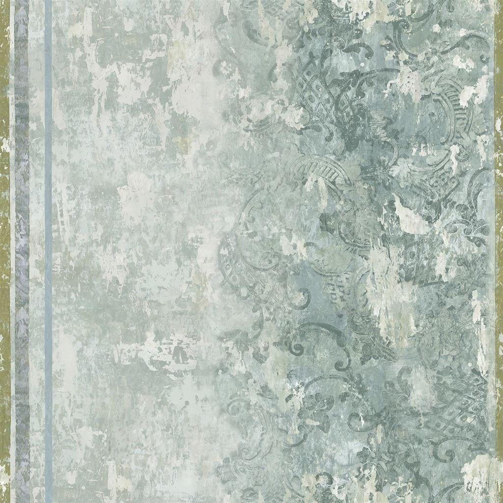 Een behang met een gipsactige structuur, la Rotonda van Designers Guild