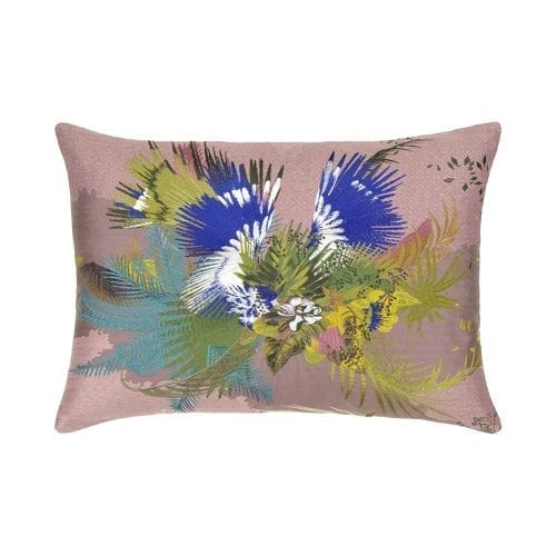 Een prachtige opdruk van exotische bloemen van Christian Lacroix, Oiseau Fleur - Bourgeon.