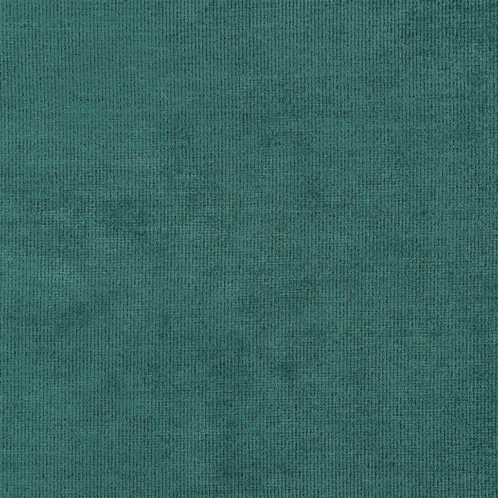 Een prachtige velvet easy clean stof van Designers Guild, Tarazona aqua