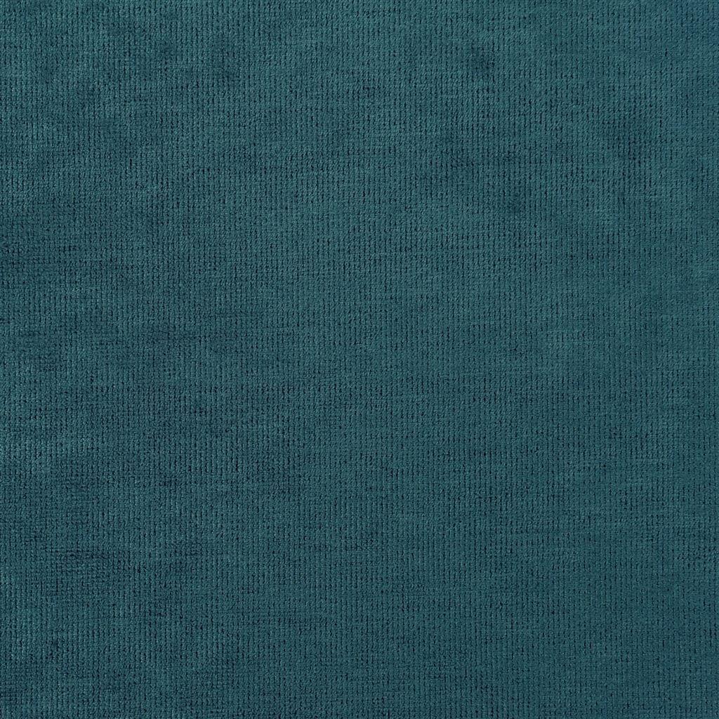 Een prachtige velvet easy clean stof van Designers Guild, Tarazona kingfisher