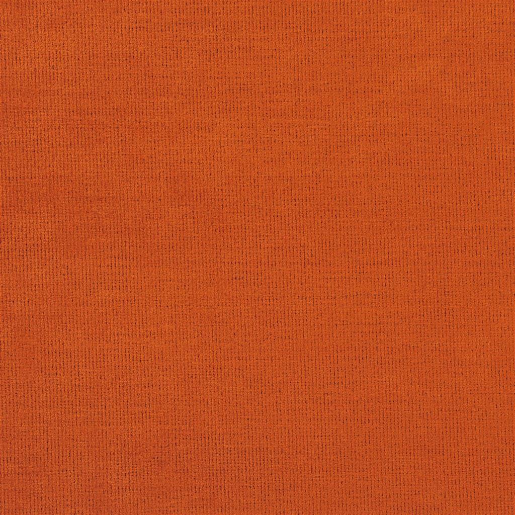 Een prachtige velvet easy clean stof van Designers Guild, Tarazona paprika