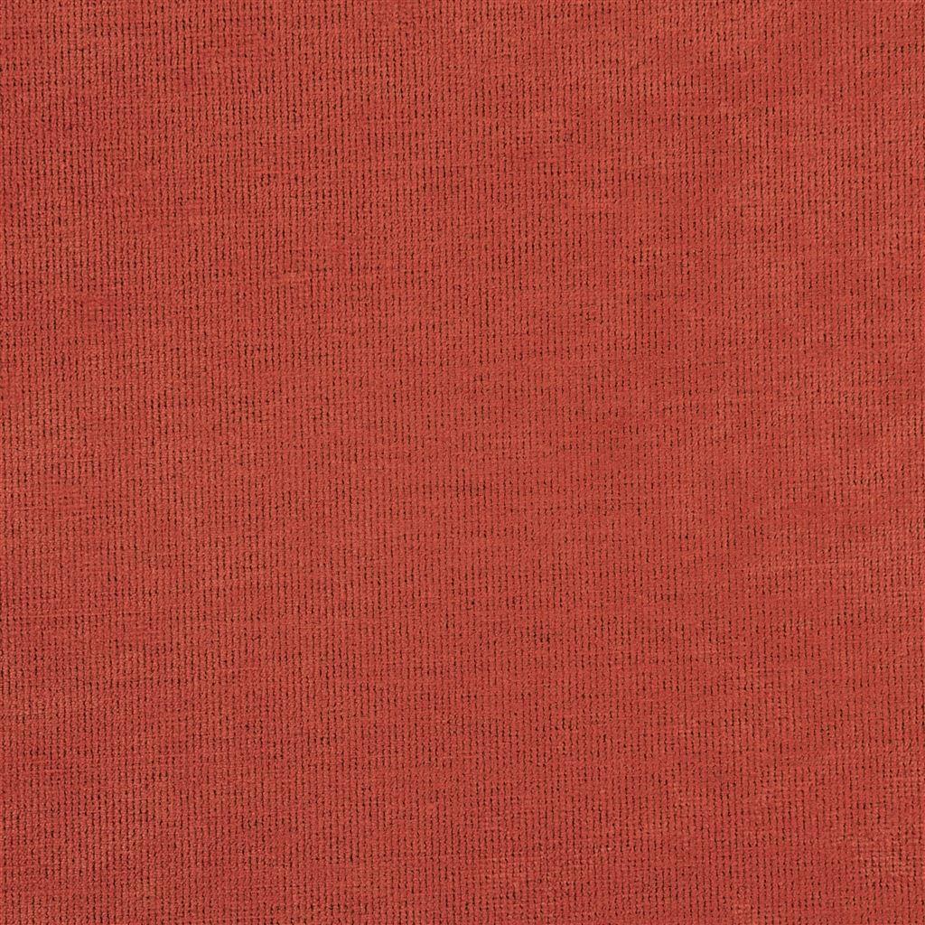Een prachtige velvet easy clean stof van Designers Guild, Tarazona terracotta
